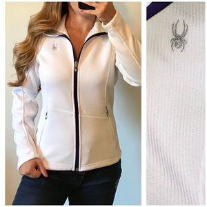 SPYDER White Core Sweater Full Zip Jacket Medium